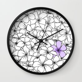 Frangipane flowers Wall Clock