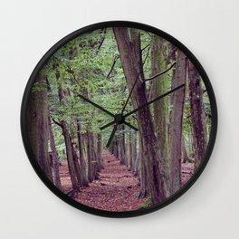 Woodland Trees. Wall Clock