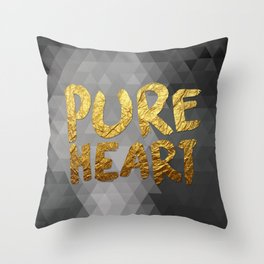 Pure Heart #GoldenPsalms Throw Pillow