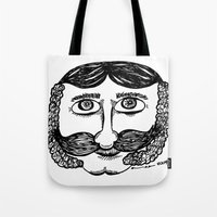 larry david Tote Bags featuring Larry by Addison Karl