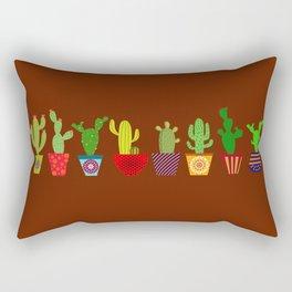 Cactus in brown Rectangular Pillow