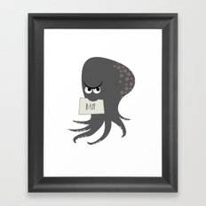 Squid of Contempt Framed Art Print