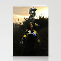 moto Stationery Cards featuring Moto Sunset by Konrad Hempel Photography
