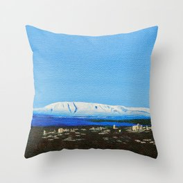 The Sleeping Lady Throw Pillow