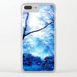 Winter Snow Storm Clear iPhone Case