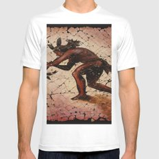 Kokopelli, The Flute Player. MEDIUM Mens Fitted Tee White