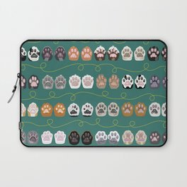 Toe Beans on Green / Cat Paws Laptop Sleeve