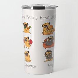 New Years Resolutions with The Pug Travel Mug