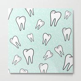 Teeth in Mint Metal Print