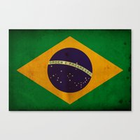 brasil Canvas Prints featuring Brasil by NicoWriter
