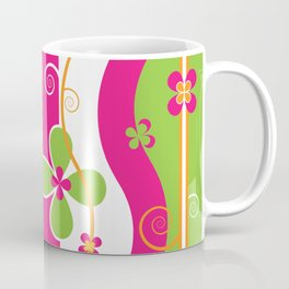 Colorful Spring Floral Graphic Art II Coffee Mug