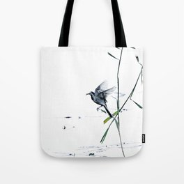 Little Bird (Wagtail - Eurasian Songbird) by The Reeds #decor #society6 #buyart Tote Bag