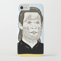 data iPhone & iPod Cases featuring Data Wolf by Mike Force