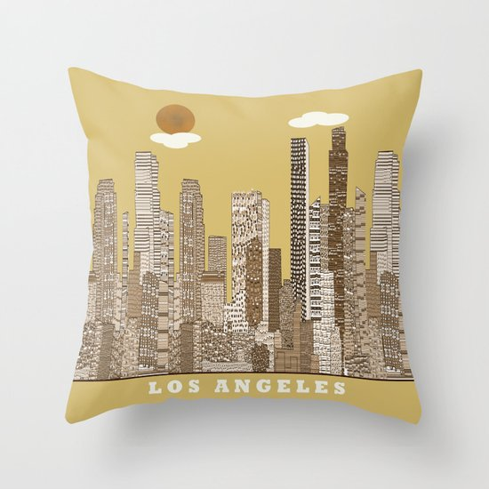los angeles city   (vintage) Throw Pillow
