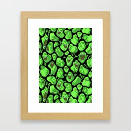 Fifty shades of slime. Framed Art Print