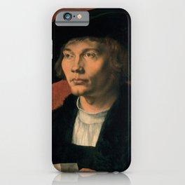 Albrecht Dürer - Portrait of Bernhard von Reesen (1521) iPhone Case