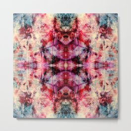 Colorful Abstract Batik Butterfly Rorschach Ink Blot Art Space Galaxy No6 Metal Print