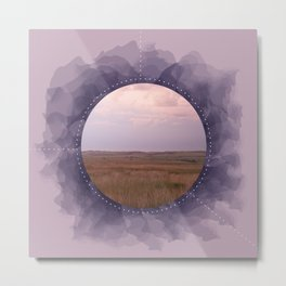 Landscape Series Purple Metal Print