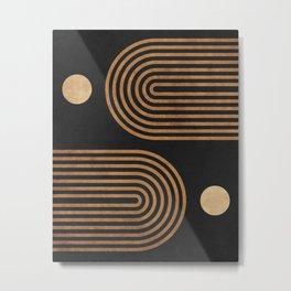 Arches - Minimal Geometric Abstract 2 Metal Print
