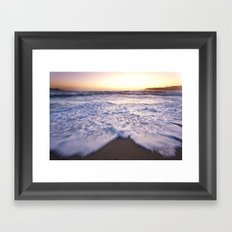 Waves at a beach Framed Art Print