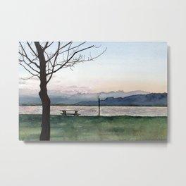 at Lake Constance Metal Print