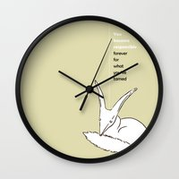 le petit prince Wall Clocks featuring LE PETIT PRINCE -THE LITTLE PRINCE- poster by Chara Anagnostopoulou