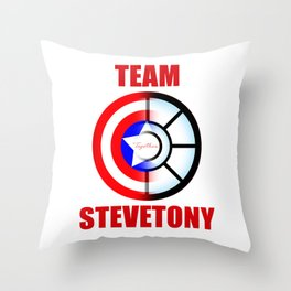 "Team SteveTony - ""Together."" Throw Pillow"
