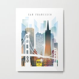City of San Francisco painting Metal Print