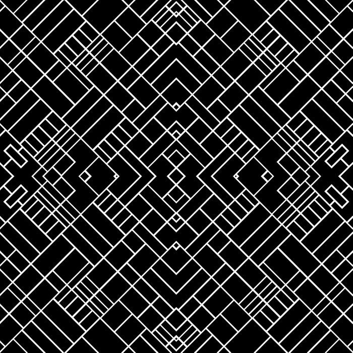 PS Grid 45 Black Duvet Cover