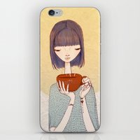 coffee iPhone & iPod Skins featuring coffee by Renia