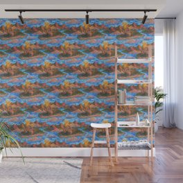 volcano pattern Wall Mural