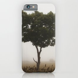 Standing Tall In The Fog iPhone Case
