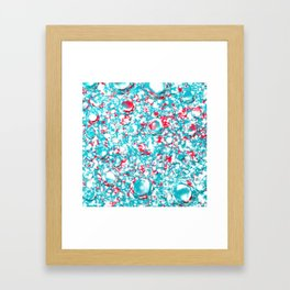 small blue red pattern on white underground Framed Art Print