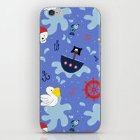 pirates iPhone & iPod Skins featuring Pirates by lindsey salles