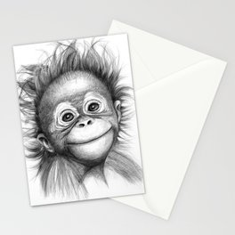 Monkey - Baby Orang outan 2016 G-121 Stationery Cards