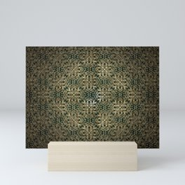 Gold Embossed Floral Design Mini Art Print