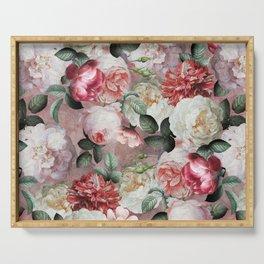 Vintage & Shabby Chic - Jan Davidsz. de Heem Roses On Mauve Serving Tray