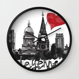 I love Cheyenne Wall Clock