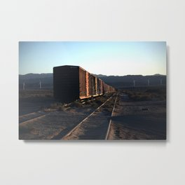 Freight Train Blues Metal Print