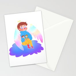 Castiel on a cloud Stationery Cards