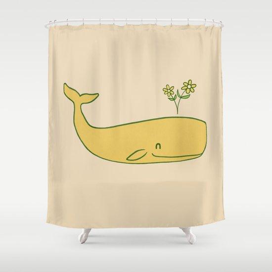 Peace Whale - colour option Shower Curtain