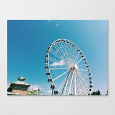 White Wheel Canvas Print