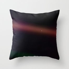 Pale Blue Dot — Voyager 1 (1990) Throw Pillow