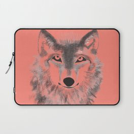 Wolf Face - Vermilion Laptop Sleeve