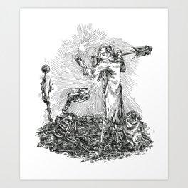 Inktober 2018: Muddy Art Print