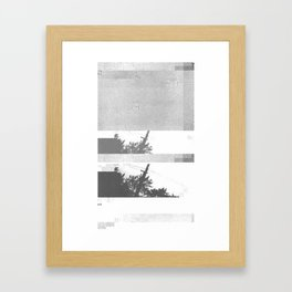 UFO Glitch Framed Art Print