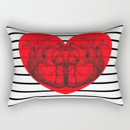 Hearts and Stripes Rectangular Pillow
