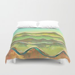 Magic Flight over the Sea of Clouds Duvet Cover