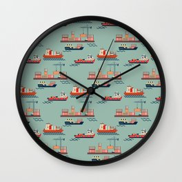 Great boat JM Wall Clock