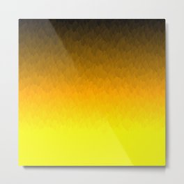 Black, orange, yellow ombre flames Metal Print